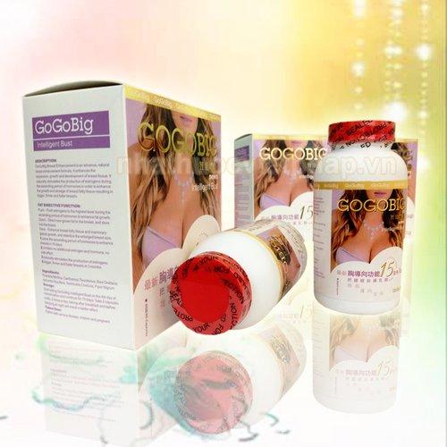 nở ngực, thuốc nở ngực gogobig chính hãng nhật bản, hiệu quả ngay sau 15 ngày sử dụng