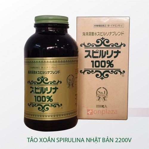 Tảo Xoắn Spirulina Nhật Bản 2200V tăng cường hệ miễn dịch cho cơ thể