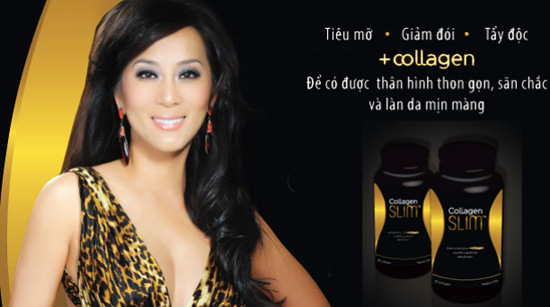 thuoc giam can, collagen slim