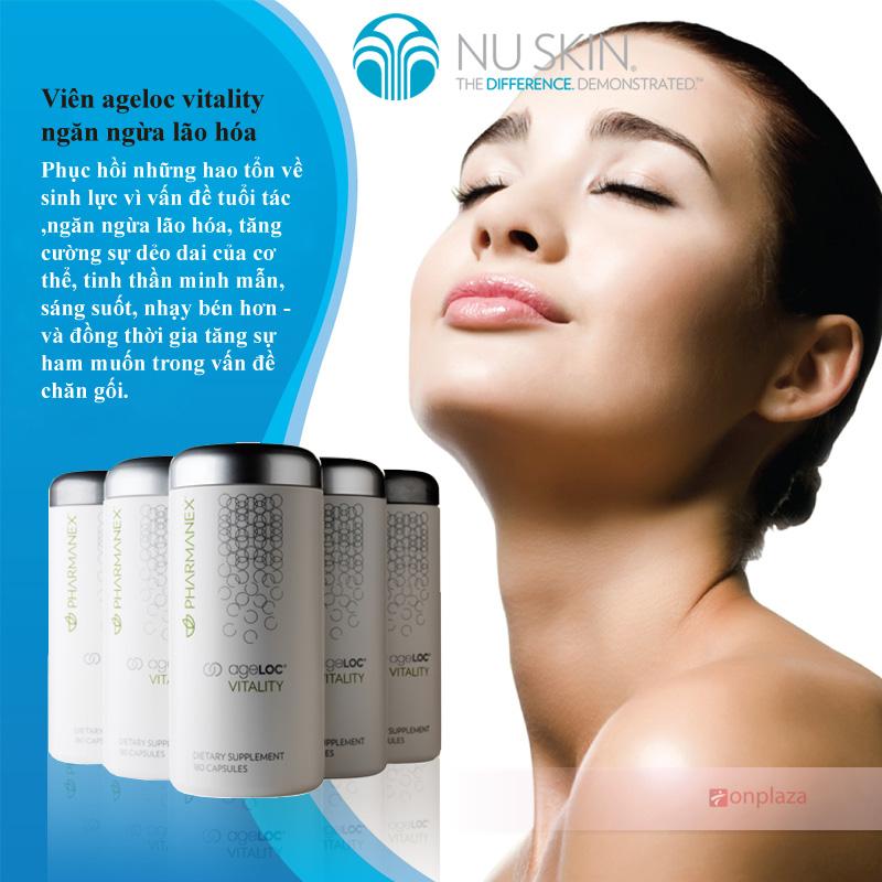 Viên ageloc vitality nuskin ngăn ngừa lão hóa