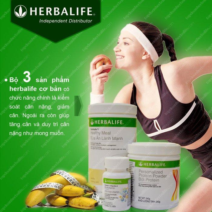 Bộ ba sản phẩm Herbalife giảm cân cải thiện vóc dáng hoàn hảo