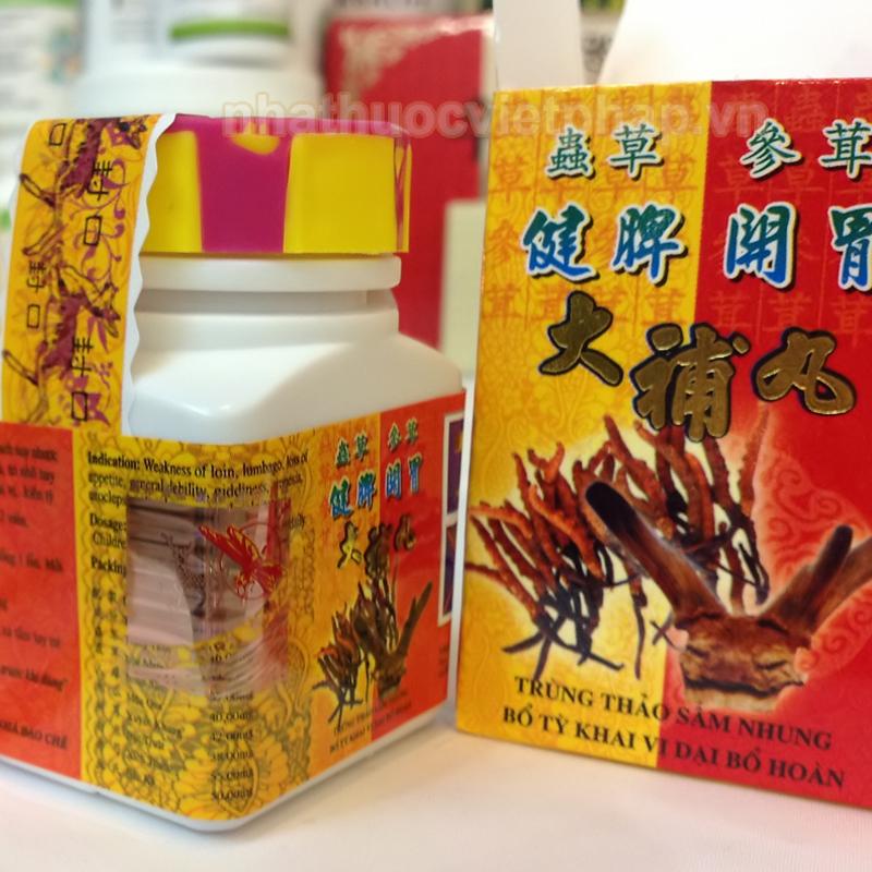 thuốc tăng cân trùng thảo sâm nhung, trung thao sam nhung