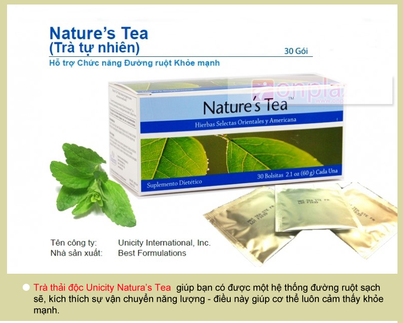 tra Nature's Tea Unicity,  tra thai doc unicity