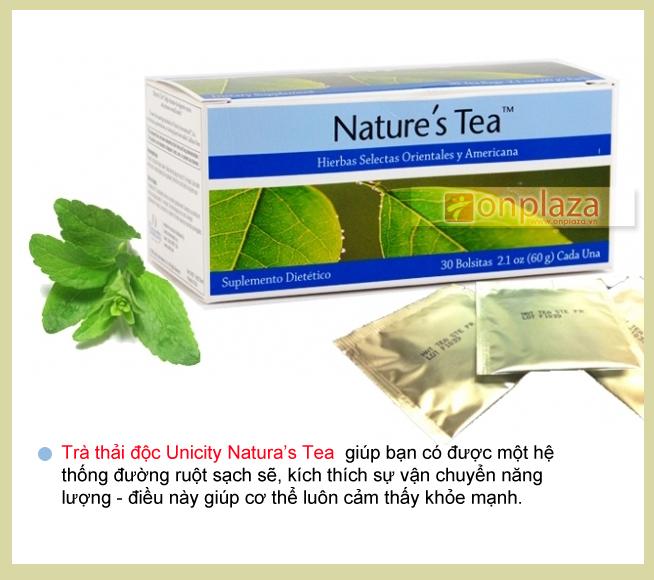 Trà thải độc Nature's Tea Unicity hỗ trợ tiêu hóa khỏe mạnh