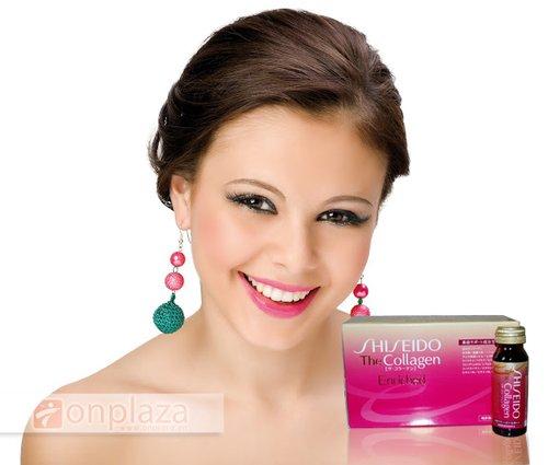 nuoc uong dep da Shiseido Collagen Enriched, nuoc uong chong lao hoa da