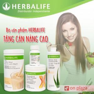 herbalife tăng cân nâng cao