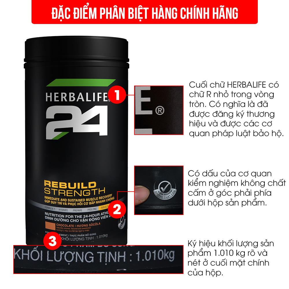 Dinh dưỡng phục hồi sau tập luyện Herbalife 24 Rebuild Trength H027 2