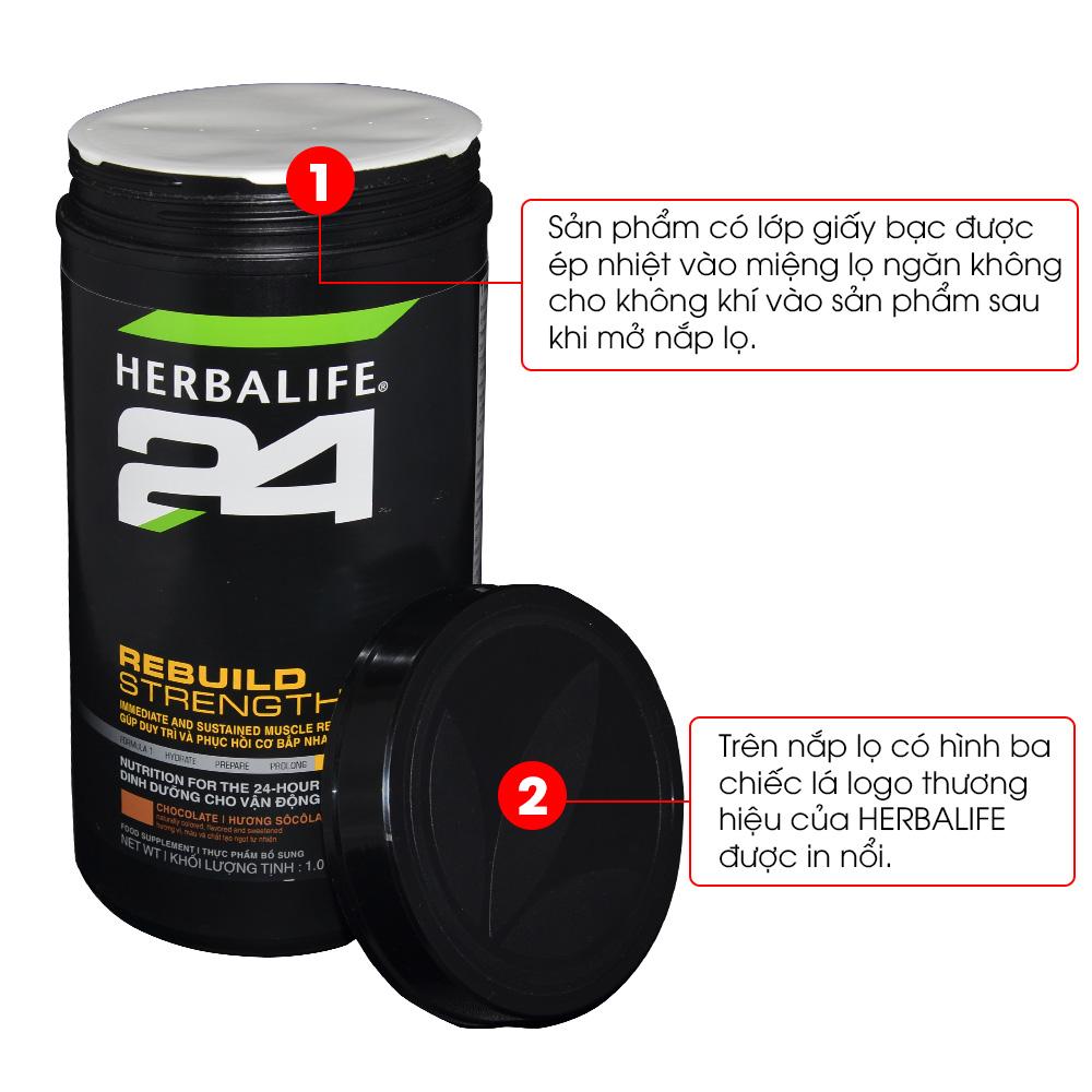 Dinh dưỡng phục hồi sau tập luyện Herbalife 24 Rebuild Trength H027 5