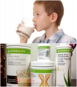 Bộ tăng cân Herbalife có dùng được cho trẻ em không?