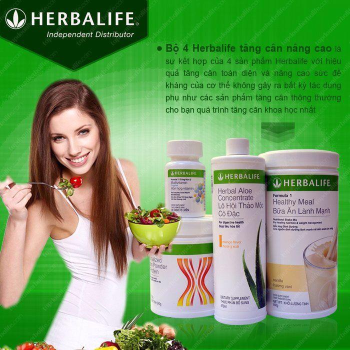 Bộ sản phẩm Herbalife tăng cân an toàn cho người dùng