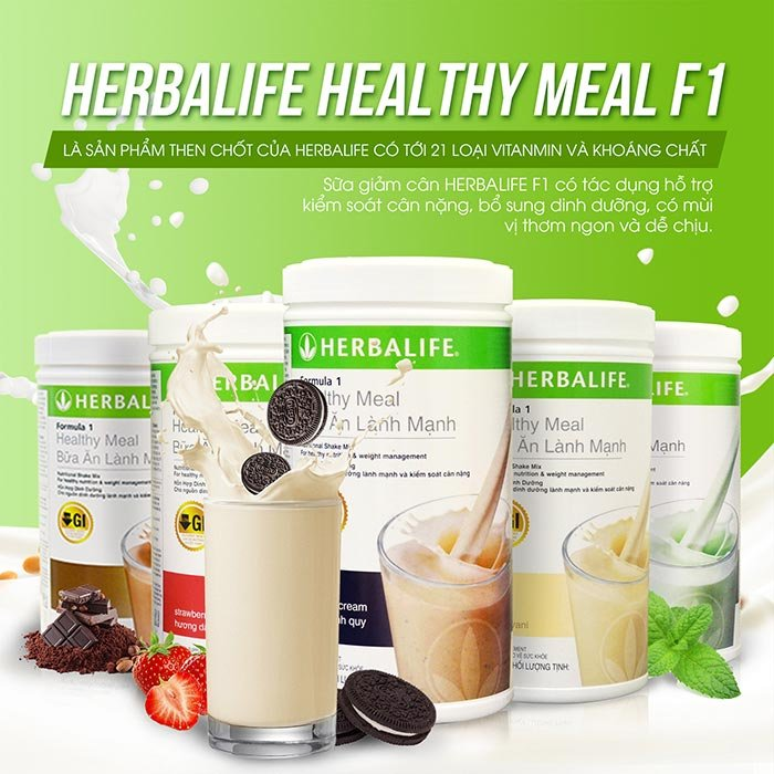Herbalife F1 là sữa có thể dùng cho bà bầu